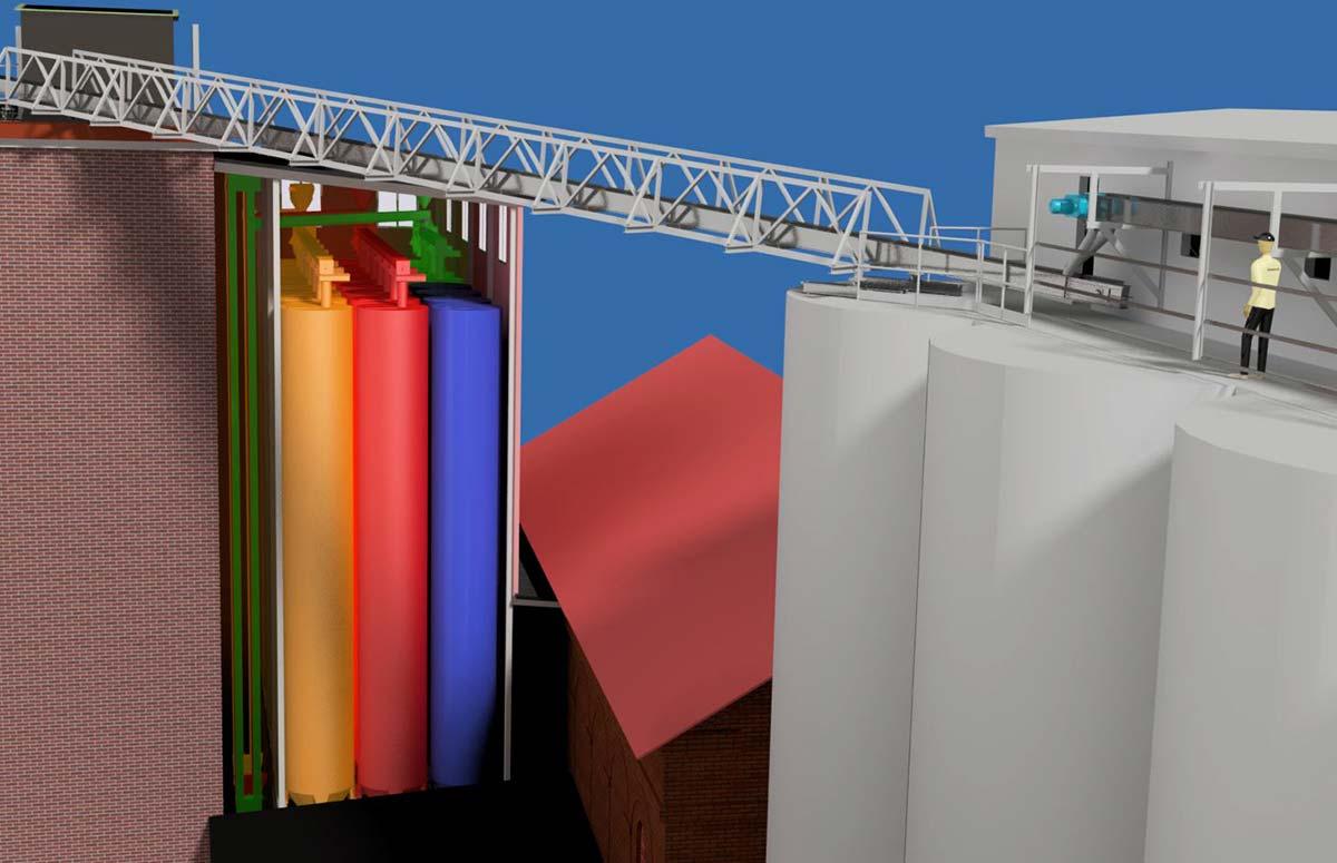 3D Ritning av silos