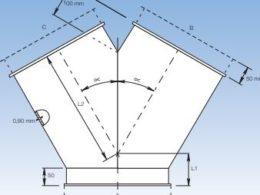 Byxrör 30° 45° för aspiration och aspirationssystem från JKF