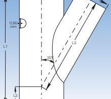 Grenrör 30° & 45° för aspiration och aspirationssystem från JKF